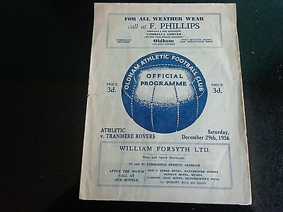 OLDHAM ATHLETIC v TRANMERE  ROVERS  December 29th 1956/1957