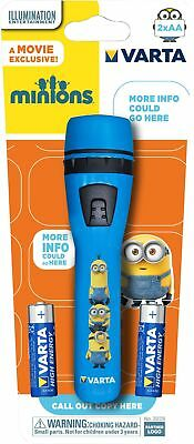 VARTA Minions Blue Childrens Kids Camping Outdoor LED Torch inc Batteries