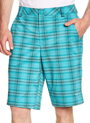Puma Blur Plaid Tech Mens Golf Shorts - Green