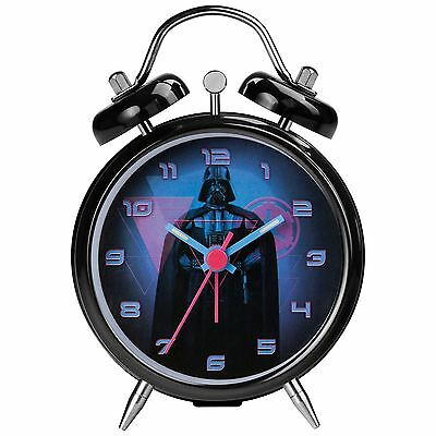 Official Star Wars Darth Vader Mini Twinbell Alarm Clock Childrens Bedroom New