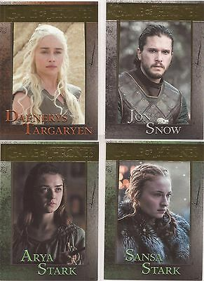 Game of Thrones Season 6 - RARE Complete 100 Card GOLD Parallel Set