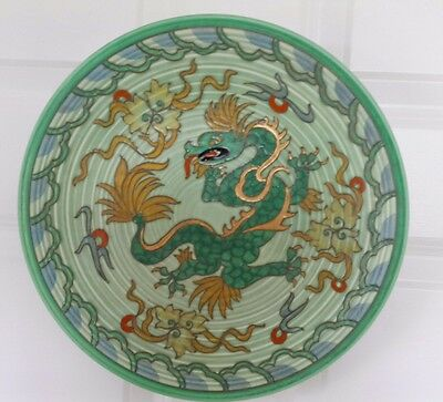 Stunning Huge Charlotte Rhead Tube Lined Manchu Dragon Charger Plate Excellent