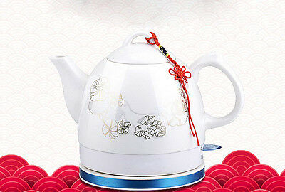 White  Ceramics  Stainless Steel 1L Home Kitchen Electric Kettle