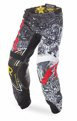 Men's motocross pants FLY KINETIC TRIFECTA size 28S, blk/teal/org  369-43828S