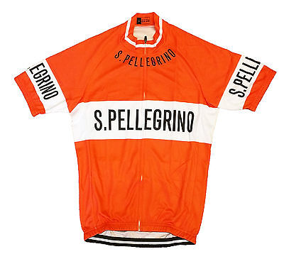 San Pellegrino Retro Vintage Cycling Team Bike Jersey