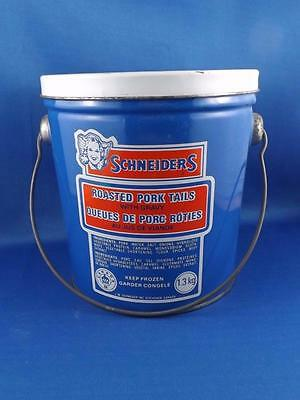 Schneiders Roasted Pork Tails Tin Pail Can With Handle 1.3Kg Meat Advertising
