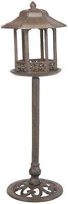 Cast Iron Free Standing Bird Feeder Vintage Looking Lamp Post Design - Yard Art