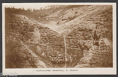 Postcard St Helena early view of the Heartshaped Waterfall old RP