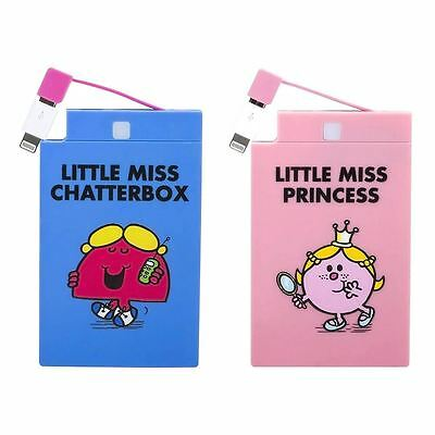 Official Little Miss 2500mAh Powerbank - Miss Princess or Miss Chatterbox