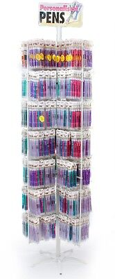 2784 Personalised Promotional Name Gift Sticker Pens And Stand Wholesale Joblot