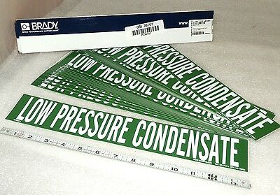 25 pcs green stickers peel off Pipe Markers Low Pressure Condensate BRADY 7386-1