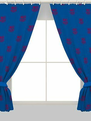 """CF BARCELONA 66"""" x 72"""" CURTAINS NEW OFFICIAL FOOTBALL"""