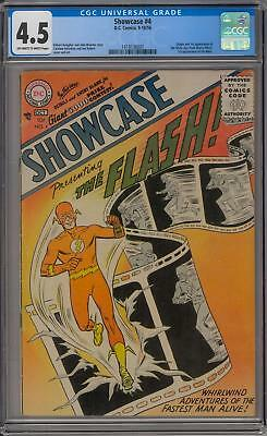 Showcase #4 CGC 4.5 (OW-W) Origin & 1st appearance the Silver Age Flash