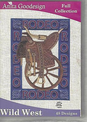 48 Embroidery Designs Anita Goodesign CD Wild West in Most Formats