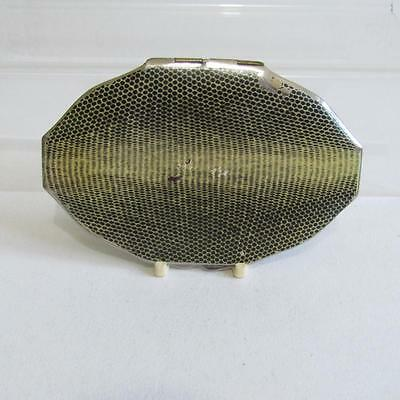 Vinatge 1920s Art Deco Powder Compact - Painted Snakeskin Design - Rowenta