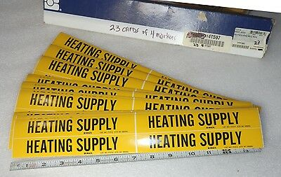 90 ea.HVAC stickers legend HEATING SUPPLY  Brady 7127-4   markers vinyl