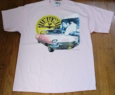 Sun Records Elvis Presley Pink Cadillac T-Shirt Large Music Graphic Tee