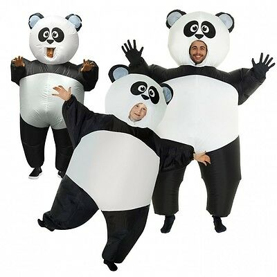 Inflatable Panda Costume Adult or Kids Great Family Blow Up Animal Sumo Fat Suit