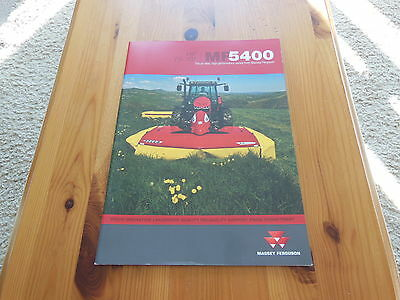 Massey Ferguson Brochure Mf5400  Excellent Condition