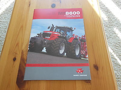 Massey Ferguson Brochure Mf8600  Excellent Condition