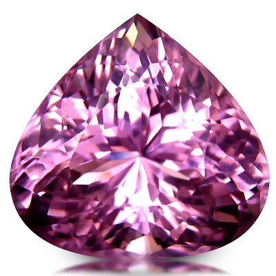 17.24Ct Heart Pear Cut Eye Clean Quality Natural Pink Kunzite Loose Gemstone