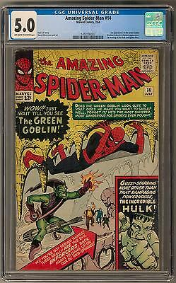 Amazing Spider-Man #14 CGC 5.0 (OW-W) 1st Green Goblin Appearance