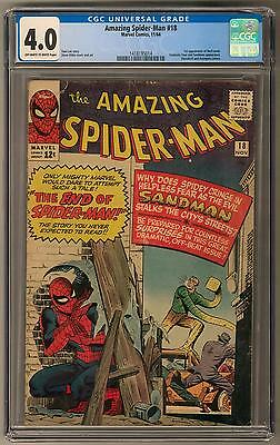 Amazing Spider-Man #18 CGC 4.0 (OW-W) 1st Ned Leeds Appearance