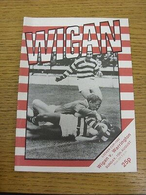 15/08/1982 Wigan v Warrington [Locker Cup] Rugby League Official Programme (the