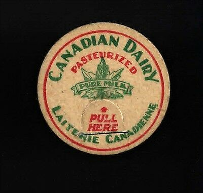 MILK CAP - CANADIAN DAIRY - English/French - Standard size - Unused