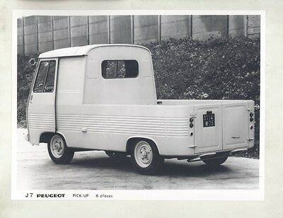 1968 Peugeot J7 Pickup Truck ORIGINAL Factory Photograph wy1078