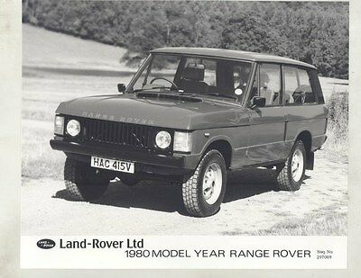 1980 Range Rover ORIGINAL Factory Photograph wy1112