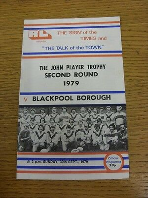 30/09/1979 Workington Town v Blackpool Borough [John Player Trophy] Rugby League