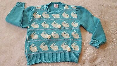 Child's Popsicle VINTAGE Bunny Rabbit Sweater sz 6X