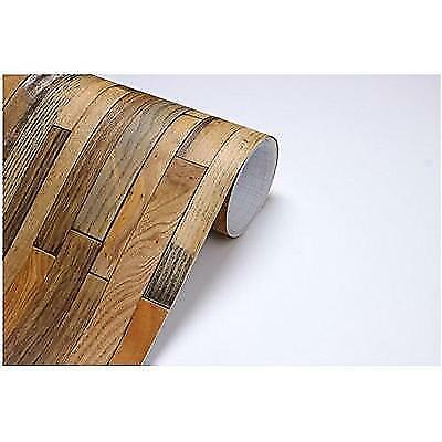 Vintage Wood Panel Pattern Contact Paper Self-adhesive Peel-stick Wallpaper 505
