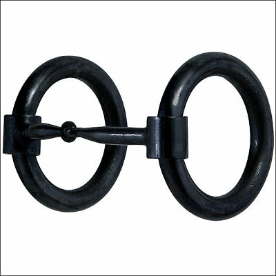 Hilason Black Steel Heavy Donut Ring Snaffle Mouth Horse Bit