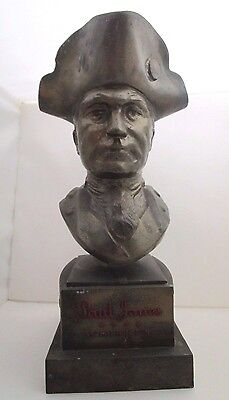 Vintage 1950s PAUL JONES WHISKEY Advertising Bar Store Display Metal Statue Bust
