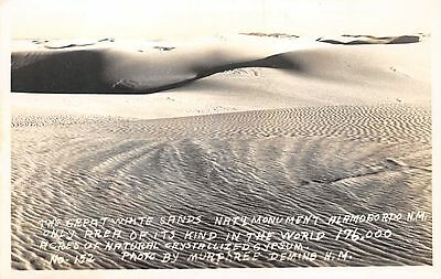 NEW MEXICO - Great White Sands Nat'l Monument; 1935 Murphree Real Photo POSTCARD