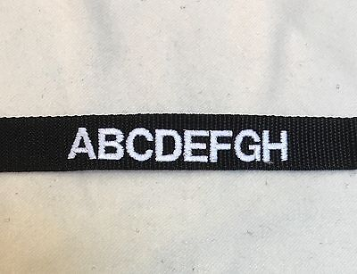 3 x Black Name Tapes, Army, Military Badge, Blood Group, MTP Combat, Embroidered