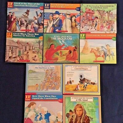 Lot of 7 Children's Books: If You Lived Series - History Educational  NEW GIFT