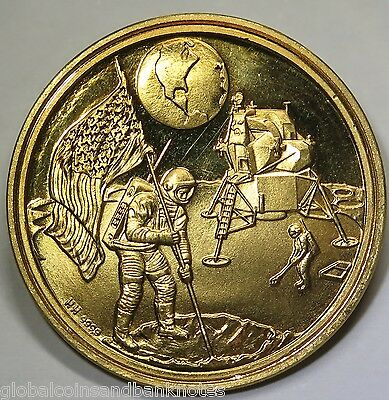 United States 1969 -  Landing On The Moon, Gold Medal .999 8.02g