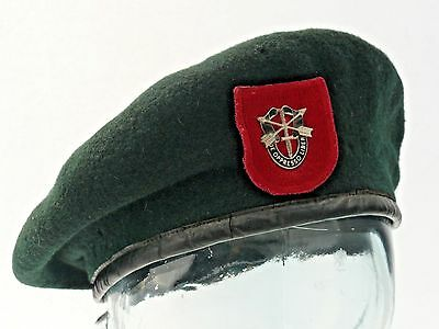 Vintage Vietnam Era US 7th Special Forces Group Green Beret - Morry Luxenberg