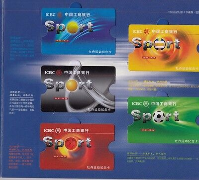 Phonecards China 1988 sports in original pack unused football tennis basketball