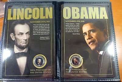 Obama Lincoln Coin Set By United States Commemorative Gallery Free Shipping!!!