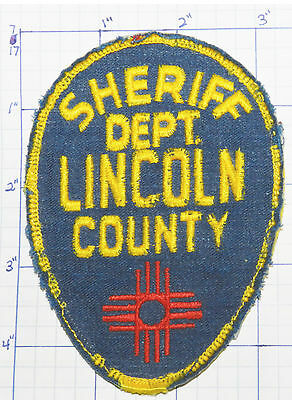 New Mexico, Lincoln County Sheriff Dept Vintage Patch