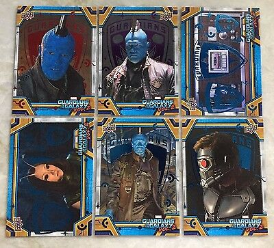 2017 Upper Deck Guardians of the Galaxy Vol. 2 Red /49 Purple /99 Blue /199 LOT