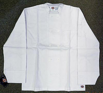 Dickies White Button Front Uniform Chef Coat Jacket Small Restaurant New