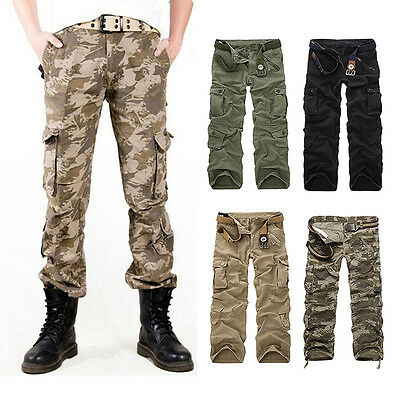 Airborne Herren Army Frachtschlauch*Raw Cargohose Cargo Pants Hose Camouflage