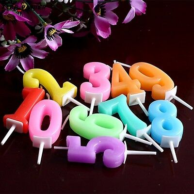 10Pc Digital Birthday Candles Decoration Cute Kids Party Letters Cake Candles