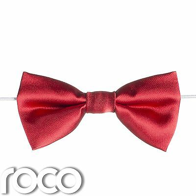 Boys Red Elasticated Dickie Bow Tie Page Boy Wedding Prom Dickie Bows