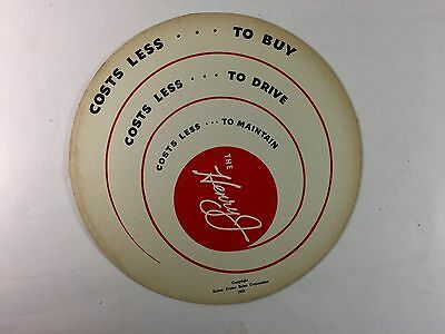 "1950 Kaiser-Frazer ""Henry J"" Flying Saucer 2 Sided Advertising Disc"